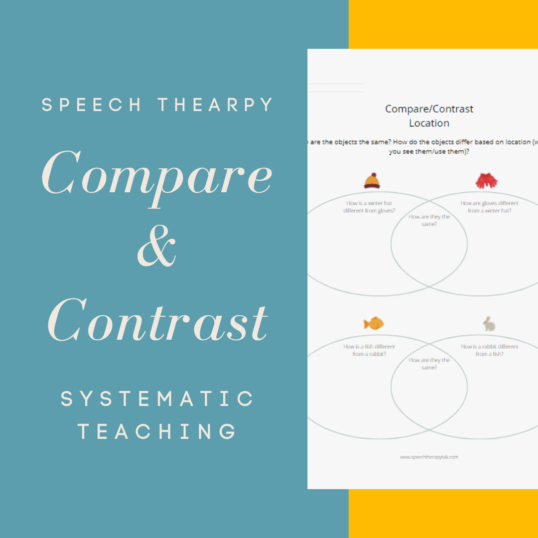 compare contrast speech therapy